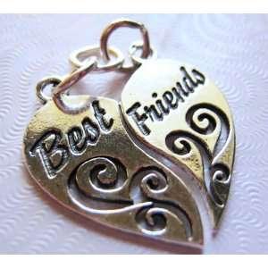 Best Friends, Split Heart, Traditional, Sterling Silver
