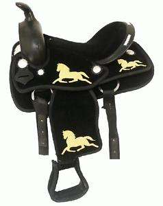 Suede Leather Seat Cordura Saddle Pony Mini Horse Barrel Trail