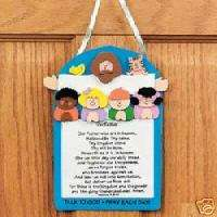 The Lords Prayer Wall Hang Christian Craft Kit Kids
