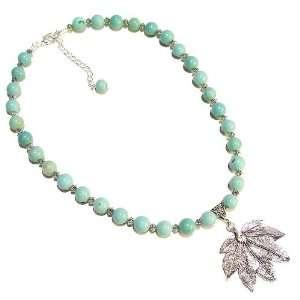 The Black Cat Jewellery Store Blue Magnesite & Tibetan Silver Necklace