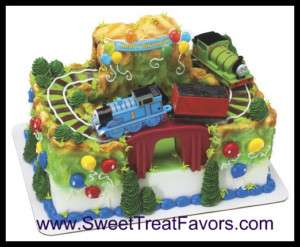 THOMAS TRAIN TANK Cake Decoration Topper Kit Set Perci