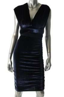 FAMOUS CATALOG Moda Blue Casual Dress Velvet Convertible L