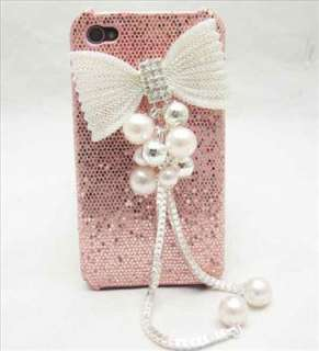 Bling Deluxe Pink Case Crystal butterfly Cover for iPhone 4 4G 4S
