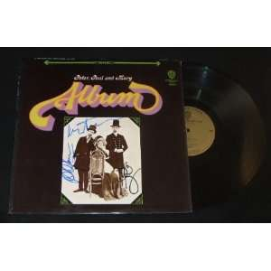 Peter, Paul and Mary   The Album   Signed Autographed   Record Album
