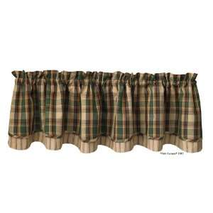 Pine Rustic Country Lodge Layered Valance Curtain Home & Kitchen