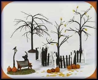 Ghostly Landscape Set 12 Halloween Dept. 56 D56 SV