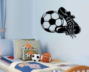 Soccer Ball and Sneakers Wall Decal Art