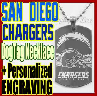 San Diego Chargers NFL Custom Design Dog Tag Necklace