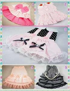 Cute Small Dog Pet Clothes Apparel Costume Dress SIZE XS,S,M,L FREE