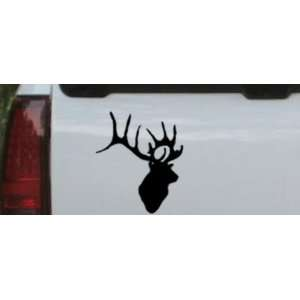Deer Head Hunting And Fishing Car Window Wall Laptop Decal Sticker