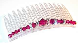 made of 100 % genuine swarovski crystal elements these combs can be