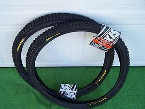 TWO TIRES TUBES BICYCLE 24 x 1.85 MAXXIS MAX DADDY W60 BLACK