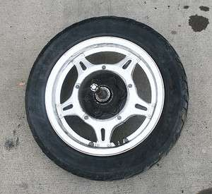 76 78 HONDA GOLDWING GL1000 REAR WHEEL/RIM/TIRE/AXLE