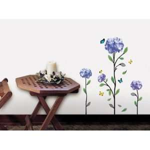 HYDRANGEA ADHESIVE WALL DECOR MURAL ART STICKER WDS 06