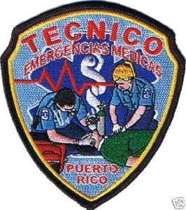 Puerto Rico EMT Paramedic Ambulance EMS Patch Tecnico