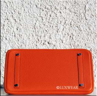 Orange & Palladium 35cm HERMES BIRKIN BAG