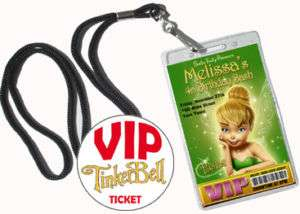 TINKERBELL Custom Birthday Party Invitations VIP Pass