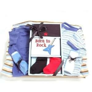 WMU Baby Boy Gift Basket  Born To Rock