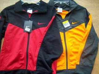 Nike Black Athletic Jacket Boys S 8 $40 Stealth Gray Orange