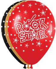 24 ROCK STAR Music Band Birthday Party Latex Balloons