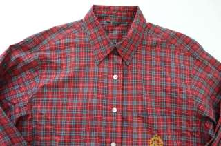 RALPH LAUREN WOMENS LONG SLEEVE RED PLAID SHIRT sz M NWOT