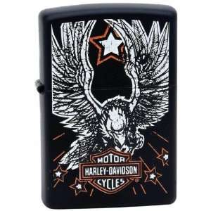 Harley Davidson Eagle and Star Zippo Lighter Patio, Lawn