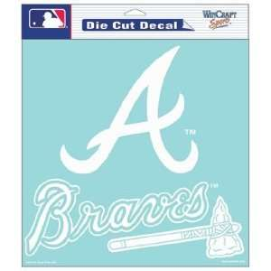MLB Atlanta Braves 8 X 8 Die Cut Decal