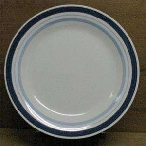 Mainstays Home Multi Band Blue Dinner Plate 10 Dia NEW