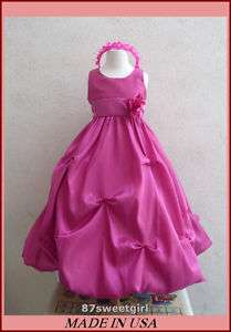 NEW FUCHSIA BRIDESMAID FLOWER GIRL PAGEANT PARTY DRESS