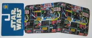Star Wars Marvel Comic Book Covers Collage Leather Wallet, NEW UNUSED