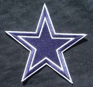 DALLAS COWBOYS NFL FOOTBALL STAR LOGO IRON CREST PATCH