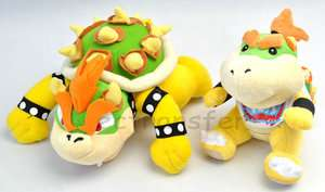 New Lot 2 Super Mario Bros BOWSER KOOPA Plush Toy/MW130