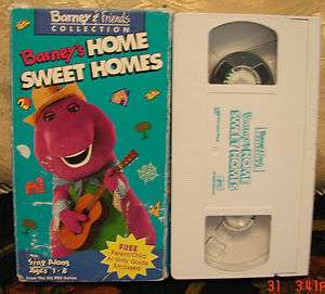 Barneys Home Sweet Homes Vhs Video Very Good Educational Toddler Kids