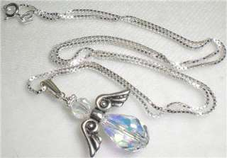 Sterling Silver Pendant or Necklace Made With Swarovski Elements