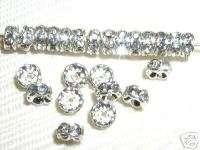 100 Swarovski Rondelle Spacer Beads 5mm Silver/Crystal
