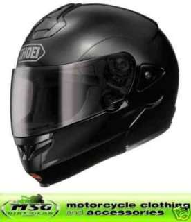 SHOEI MULTITEC MOTORCYCLE MOTORBIKE HELMET BLACK LARGE