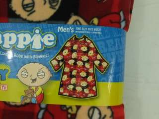 Mens Cozy Fleece Lounge Robe FAMILY GUY Stewie OSFM