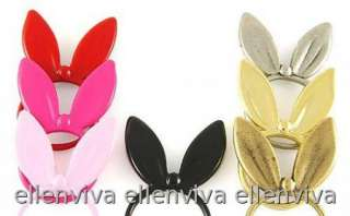 Super Cute Rabbit Bunny Ears Ring Fashion Jewelry Size 6.5  Hot Pink