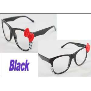 Super Cute Black Kitty Glasses with Clear Lenses Health