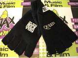 QUEEN WE WILL ROCK LOGO FINGERLESS GLOVES OFFICIAL NEW FREDDIE MERCURY
