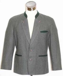 WOOL Men BLUE GREEN Tweed German Sport JACKET Coat 42 M