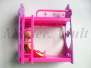 Bunk Bed for Kelly of Barbie in Pink & Violet NEW