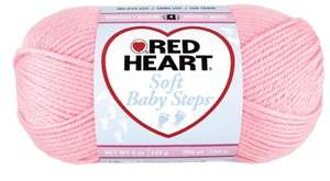 Red Heart Soft Baby Steps Yarn   Baby Pink