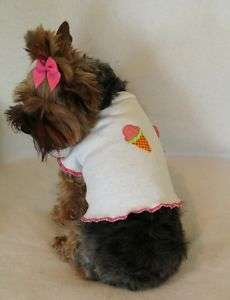 Ice Cream Cone Dog T   Shirt clothes puppy pet small