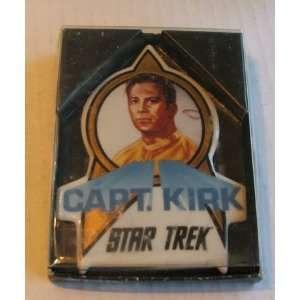 Vintage 1991 Star Trek Captain Kirk 4 Ceramic Plaque