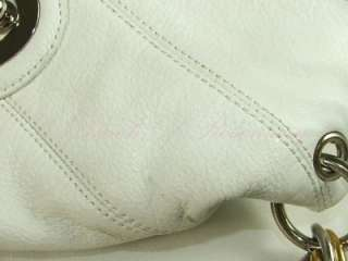 Steven Steve Madden Pinch Me Flap Hobo Bag Purse White