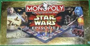 STAR WARS EPISODE 1 Edition MONOPOLY Board Game