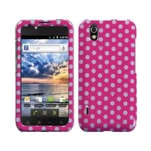 Hot Pink Polka Dots Crystal Hard Skin Case Faceplate Cover
