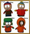pcs South Park Plush Set /Kenny, Kyle, Eric Cartman, Stan/Stuffed