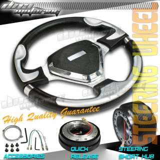3PC COMBO QUICK RELEASE+HUB+320MM T290 RACING STEERING WHEEL